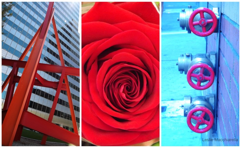 Downtown LA Red Collage photos by Leslie Macchiarella