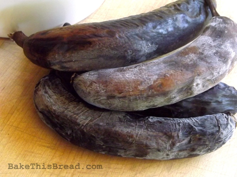 Frozen Black Bananas for Homemade Banana Nut Bread Recipe Bake This Bread