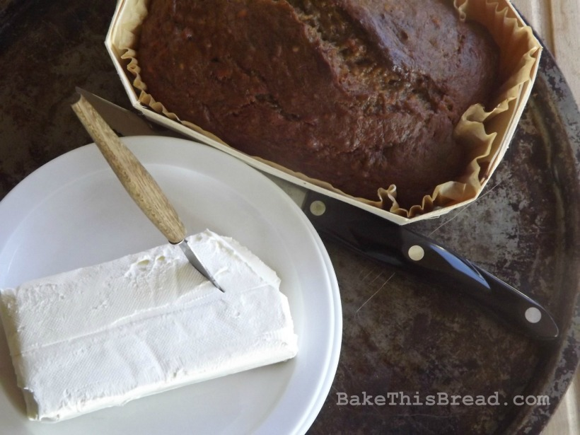 Serving Banana Bread with Cream Cheese Bake This Bread