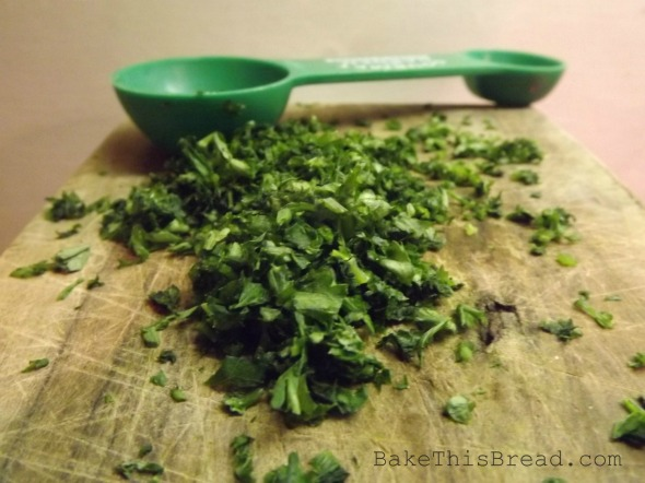 Chopped Parsley for Cheese Puff Crackers recipe Bake This Bread