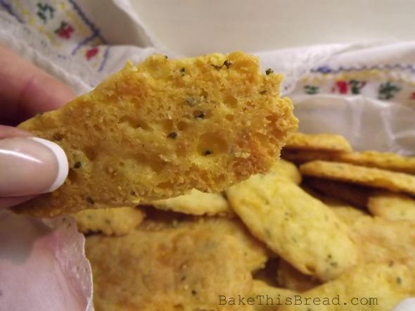 Golden Bottom of Vintage Cheese Puff Cracker recipe BakeThisBread
