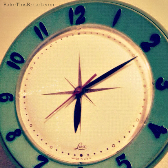 Retro Clock photo by Leslie Macchiarella for BakeThisBread