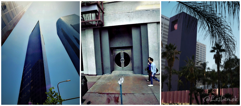 Downtown LA DTLA Collage Wells Fargo Bldg Perhsing by Leslie Macchiarella